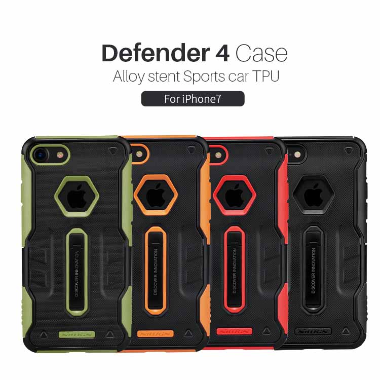 For apple iphone 7 case cover luxury Nillkin Defender 4Gen Tough Slim Cover For iphone 7 plus case silicone housing Phone Bag