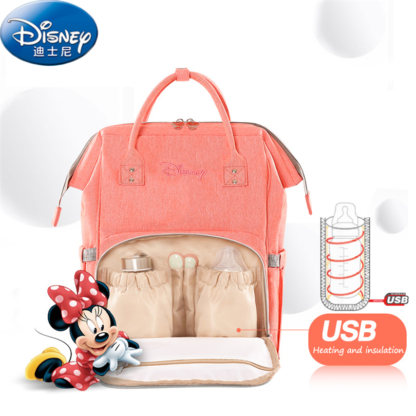 Disney Oxford Insulation Bags High-capacity Baby USB Upgraded version Thermal Mummy bag Feeding Bottle Bags Diaper Bags ZT050 disney new upgraded version mickey and minnie insulation bag top capacity baby feeding bottle bags diaper bags oxford usb bags