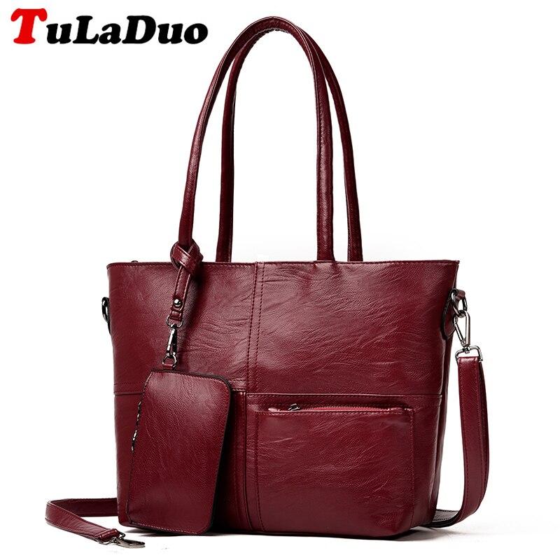 Fashion Big Women Handbags Brands Shoulder Bag Large Tote Bag High Quility PU Leather Bolsa Feminina Ladies Hand Bags SAC A MAIN