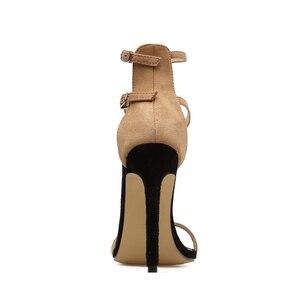 Image 5 - 2020 Fashion Summer Women 11.5cm High Thin Heels Buckle Strap Sandals Female Fetish Gladiator Shoe Lady Stiletto Valentine Pumps