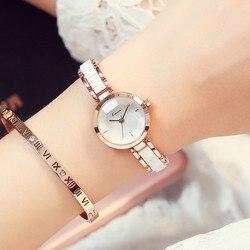 Kimio rosa ouro relógios de moda feminina relógio de pulso 2019 marca de luxo quartzo senhoras pulseira relógios femininos para mulher relógio