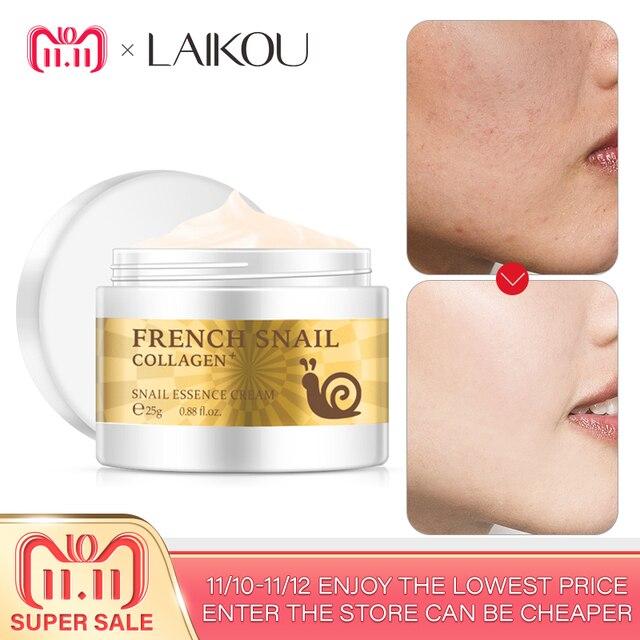 Crema de Cara de Caracol hidratante de ácido hialurónico Anti arrugas antiedad nutritivo de colágeno Caracol suero Día Crema cuidado de la piel producto