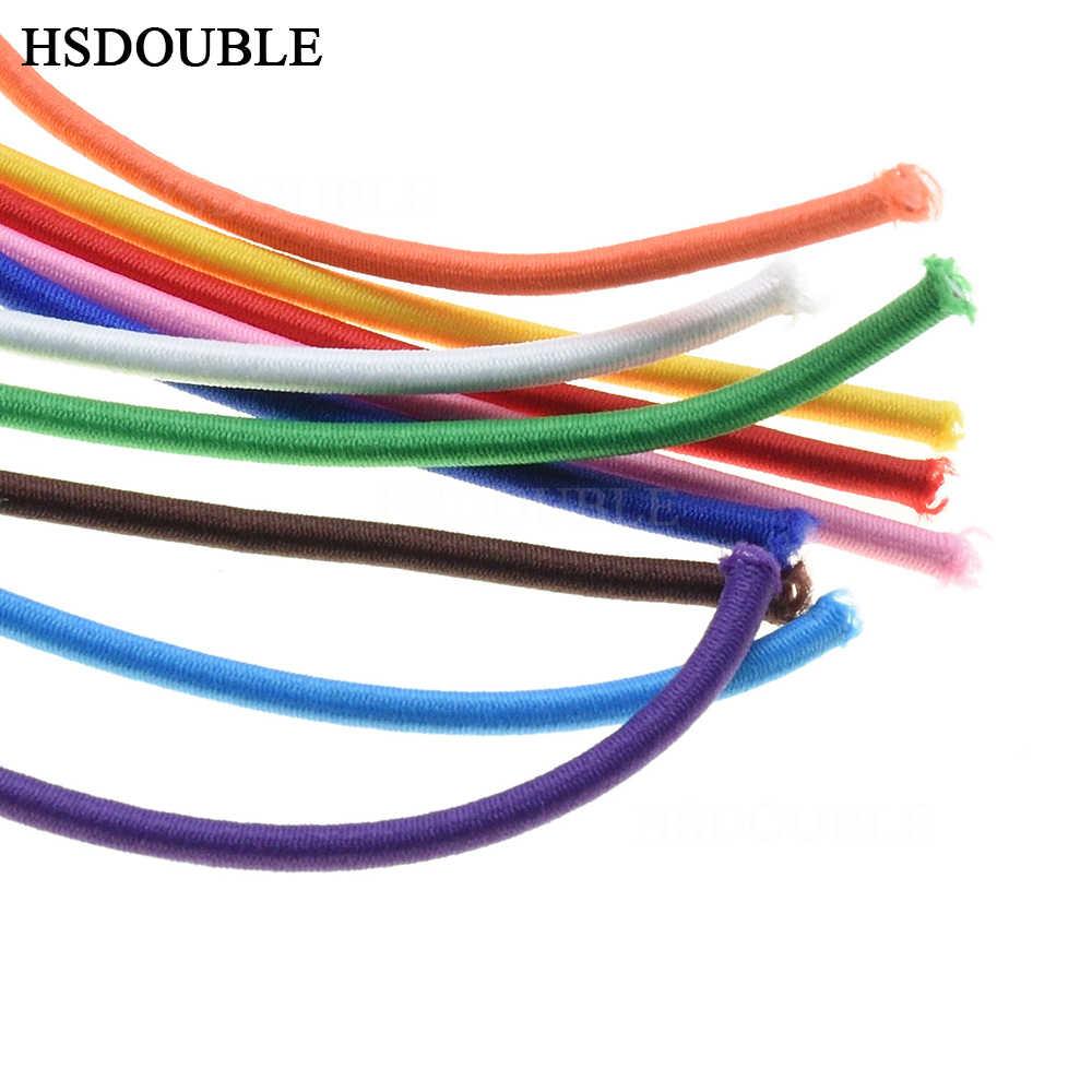 10 jardów/paczka kolorowe o średnicy 3mm elastyczna lina Bungee przewód amortyzujący Stretch String dla DIY tworzenia biżuterii na świeżym powietrzu backage
