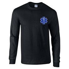 Футболка с длинными рукавами и логотипом «звезда жизни EMS», футболка в стиле Харадзюку
