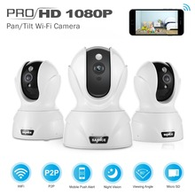 SANNCE Security 1080P IP Camera 2MP CCTV Wireless Camera Remote Monitoring System Two-ways Audio Talk,Build-in Mic & Speaker