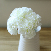 10pcs Real Touch Carnation Flower Bouquet Artificial Home Wedding Decoration Illustration DIY Scrapbooking