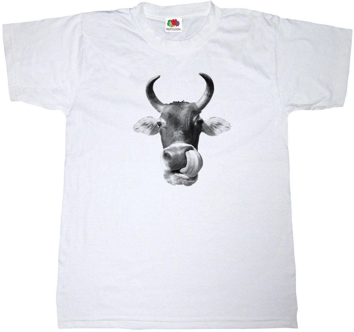 COW LICKING ITS OWN NOSE FUNNY ALTERNATIVE T-SHIRT 100% COTTON RETRO T SHIRT New Shirts Funny Tops Tee Unisex