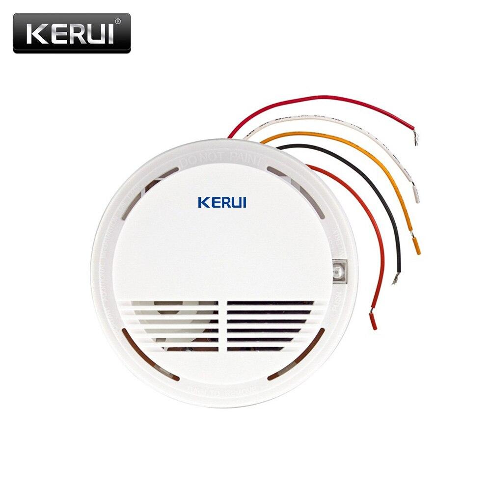 Verdrahtet Sicherheit Rauch Brandmelder Wired Rauchmelder Alarm Sensoren Für alle GSM Alarmanlage Für Haus Büro