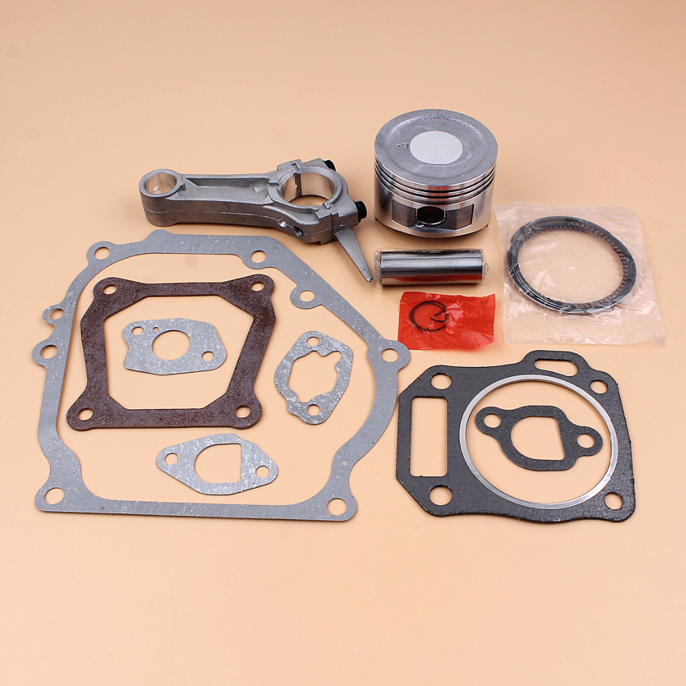 68MM Piston Ring Connecting Rod Engine Full Gasket Set For HONDA GX160 GX 160 5.5HP 4-Cycle Gas Engine Generator Water Pump recoil starter curved steel rod rachnet for honda gx160 gx200 4 cycle 163cc 196c water pump scarifier pull start assembly