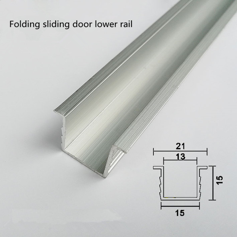 Free Shipping Aluminum Groove Sliding Door Stopper Rail