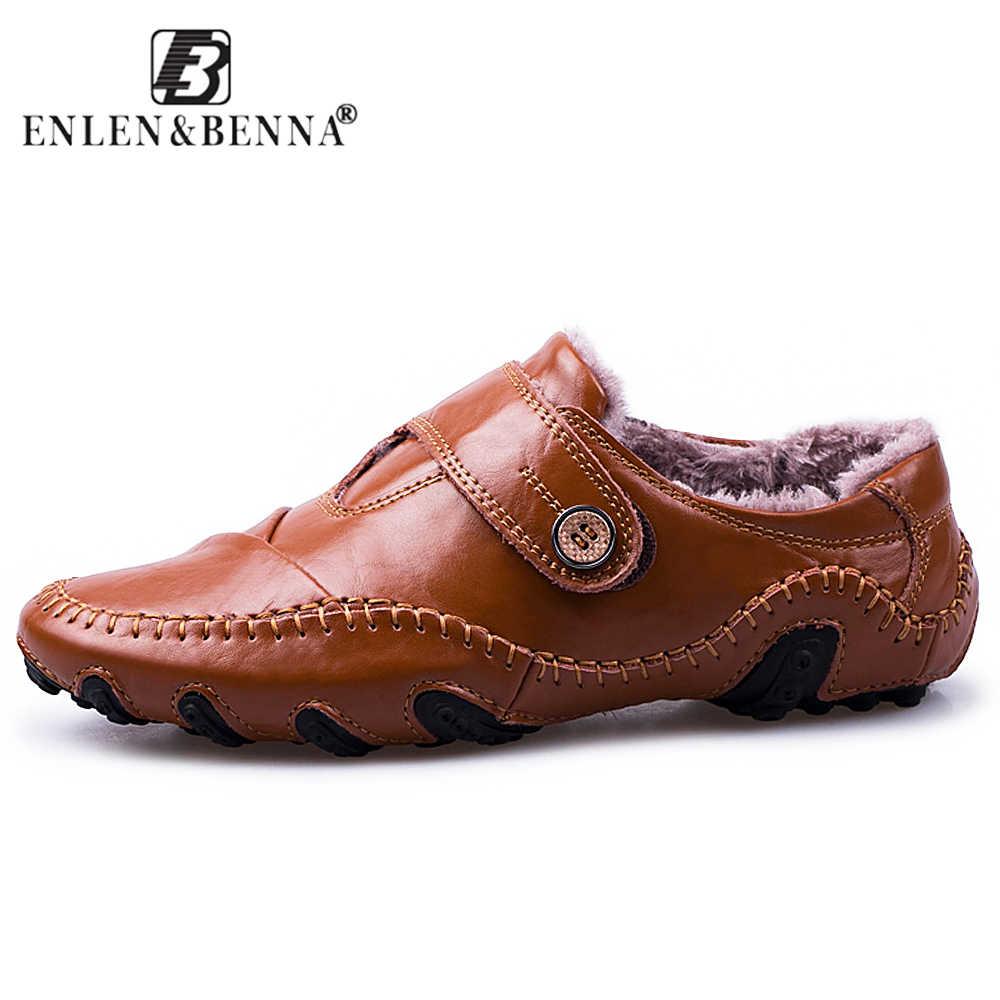 2019 mannen Casual Loafers Schoenen Echt Lederen Mocassins Ademend Soft Slip-on Schoenen Mannelijke WInter Rijden Schoeisel Grote maat 48