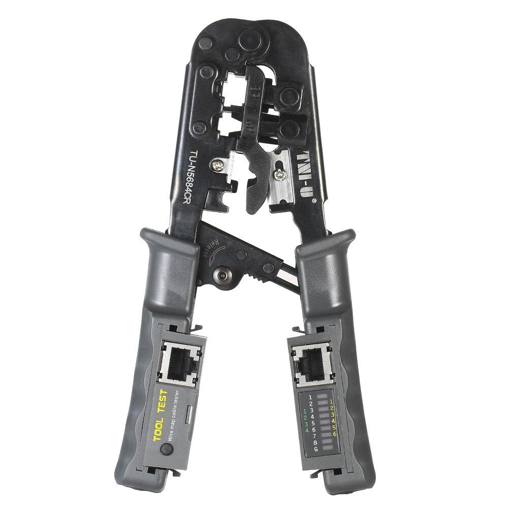 WohltäTig 2 In 1 Multitul Multitool Draht Crimp Crimpen Werkzeug Prüfung Zangen Draht Stripper Rj11 Rj12 Rj45 Kabel Crimper Draht Cutter Tester Werkzeuge