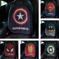 Cartoon Cute Car Seat Back Cushion Linen Superman Captain American Batman Auto Seat Back Covers For Car Seat Accessories