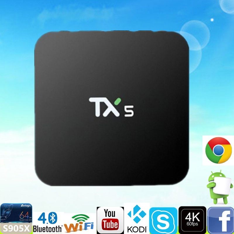 ФОТО Set Top Box TX5 TV BOX Amlogic S905X Android 6.0 2G 8G HD 4K Fully 16.1 Quad core Media Player Android TV BOX