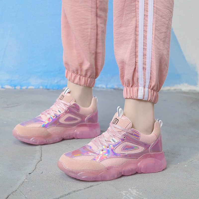 856aceb911 Spring Women Chunky Sneakers Harajuku Casual Dad Shoes Platform ...