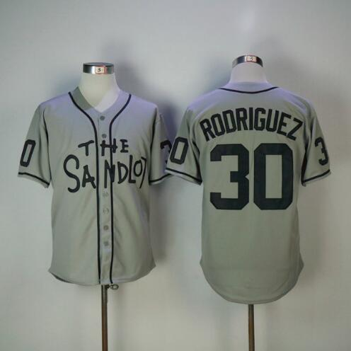 Stitched The Sandlot Benny  The Jet  Rodriguez 30 Baseball Jersey Alan   Yeah Yeah  McClennan 11 Michael  Squints  Palledorous -in Baseball Jerseys  from ... 35d345e1f