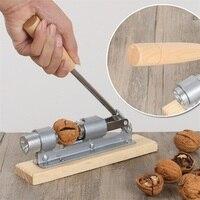 Gỗ thép tay nut cracker cutter rau nutcracker tác động kẹp óc chó gõ máy nhà bếp trái cây rau công c