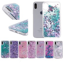 Liquid Water Case for iPhone 7 Dynamic Quicksand Glitter Bling Hard pc+TPU Case for iPhone SE 5 5S 6 6S plus 7 8 X 10 Case Cover