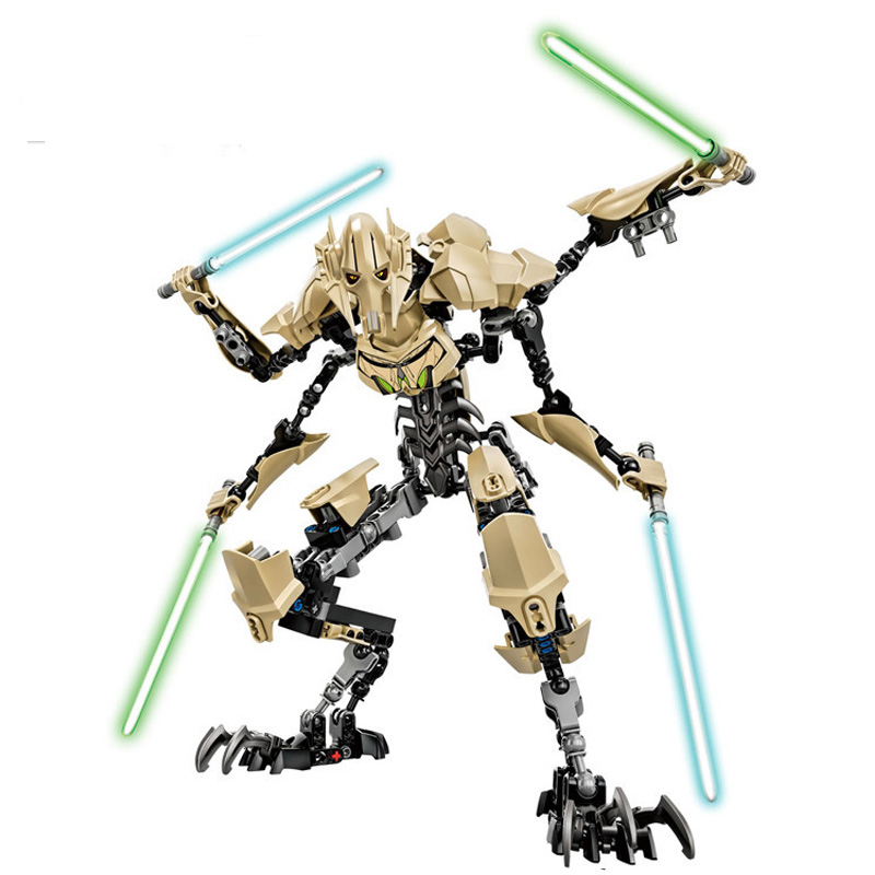 Wars 7 General Grievous With Lightsaber Storm Trooper Figure Models Building Blocks Sets Toys For Children Boys Juguetes
