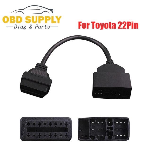 Connecteur de Diagnostic de voiture pour Toyota | 22 broches à 16 broches OBD OBD2 connecteur de Diagnostic de voiture pour Toyota 22PIN transfert dadaptateur de câble OBDII pour Toyota