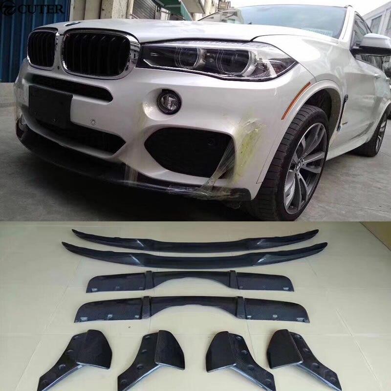X5 F15 Carbon frontlippe heckdiffusor Heckstoßstange schürzen Seite Splitter für BMW X5 F15 M LEISTUNG Bumper 2014-2015