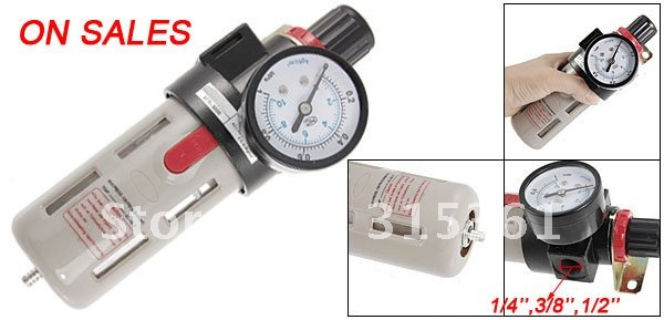 цена на Free Shipping 1/4-1/2'' Air Source Gas Treatment Pressure Regulator With Cover BFR-2000,BFR-3000 or BFR-4000
