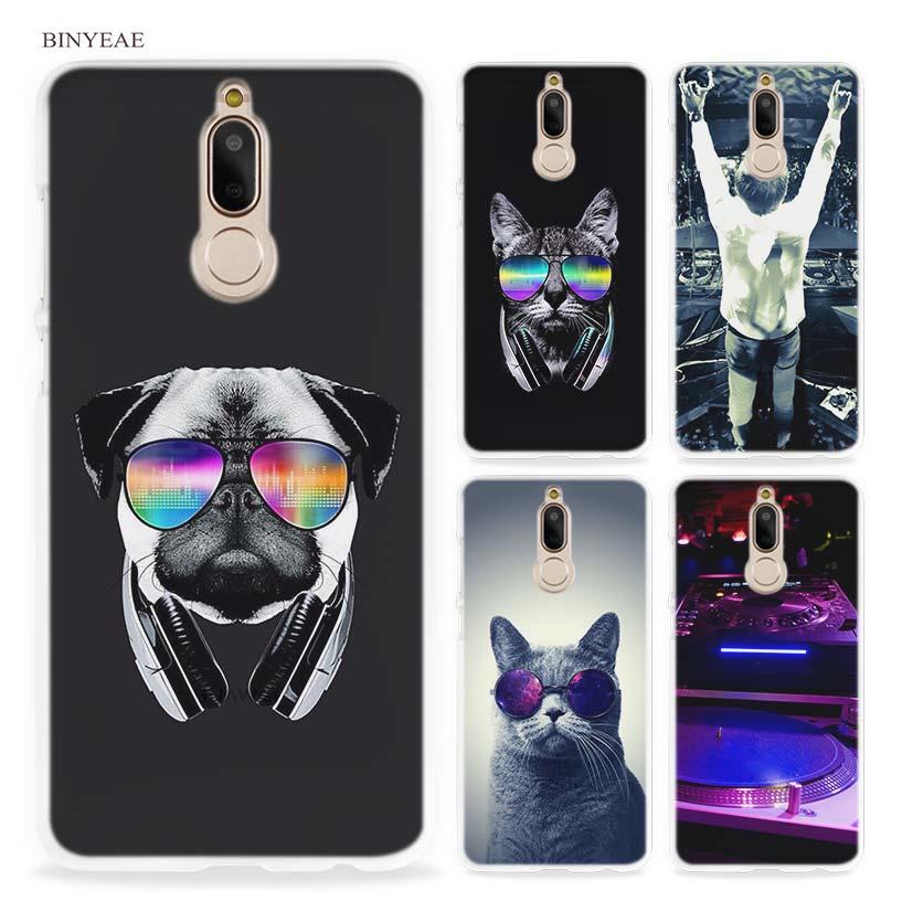 BINYEAE old dj music Hard Clear Case Cover for Huawei Mate 10 P8 P9 Lite Y5 II Y6 Y3 2017 Mini Honor 9