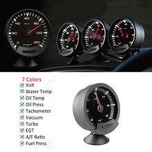 GReddi Sirius Meter Serie Vertrouwen 74mm 7 kleuren Water temp Olie Temp Olie Druk Turbo Boost Auto Gauge Meter met Sensoren