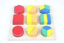 Bebé Montessori Juguete De Madera Junta de Acción Fracción Forma Juguete Del Rompecabezas Preescolar juguete de Aprendizaje Temprano Para Niños Juguetes Brinquedos juguetes
