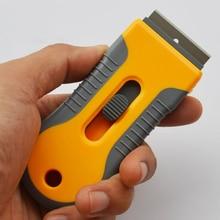 Retractable Stainless Steel Scraper Mini Razor Scraper Window Scraper For Scraping Labels