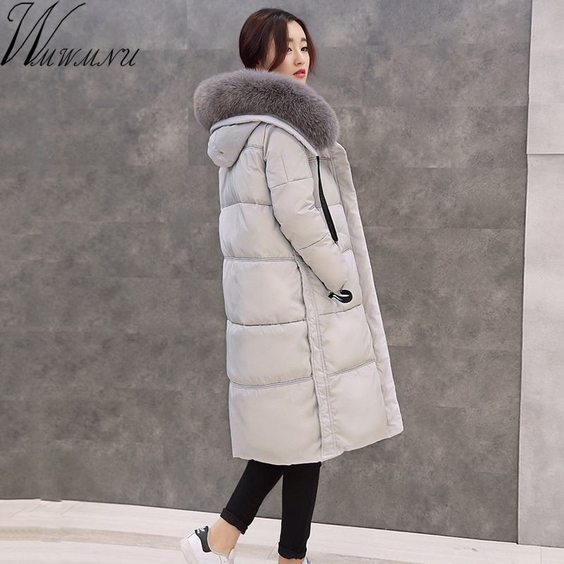Wmwmnu Natural fox Fur Collar 2017 Winter coat Women White Duck Down jacket Long Thick Parkas Womens Jackets And windproof Coat woman winter jacket fur natural fox fur genuine leather jacket long winter coat sleeve three quarter thick womens down jackets
