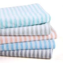 Thin natural bamboo fiber knitted fabric summer dyed striped clothing by meter