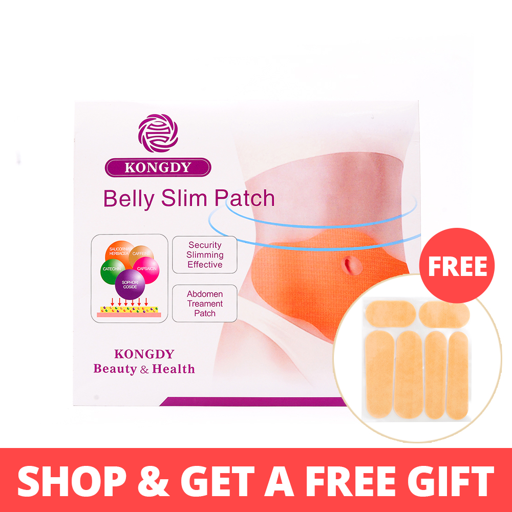 KONGDY Hot Sell 5 Pieces / Box Slanking Patch KONGDY New Belly Abdomen Vekttap Fettforbrenning Slim Patch 100 Natural Ingredients
