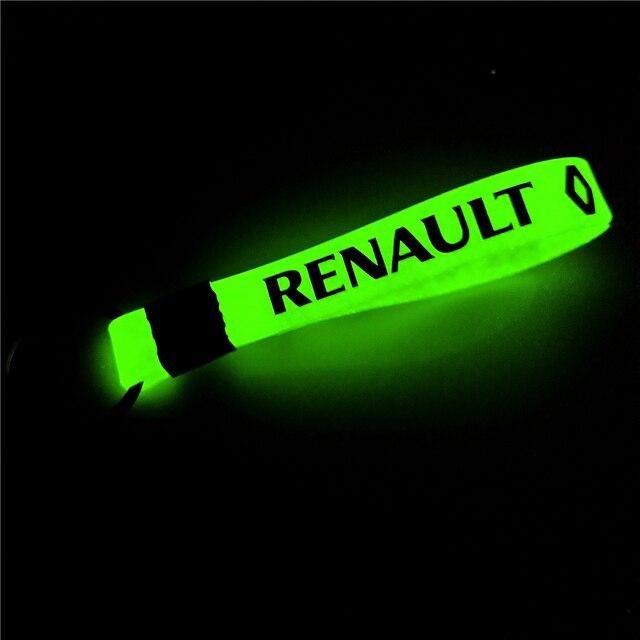 Funda luminosa para el coche de los llaveros para Renault Megane 2 3 Duster de los accesorios del coche de la motocicleta