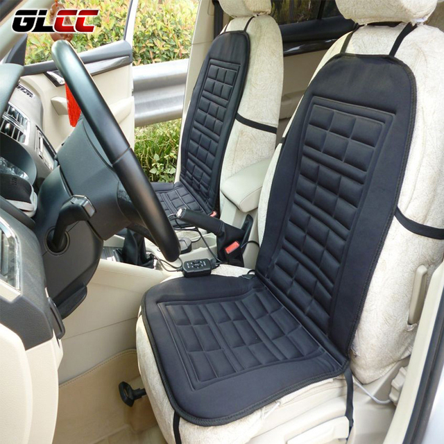 Winter Warm Car Seat Cushion Cover 12V DC Electric Heated Covers Pad For VW