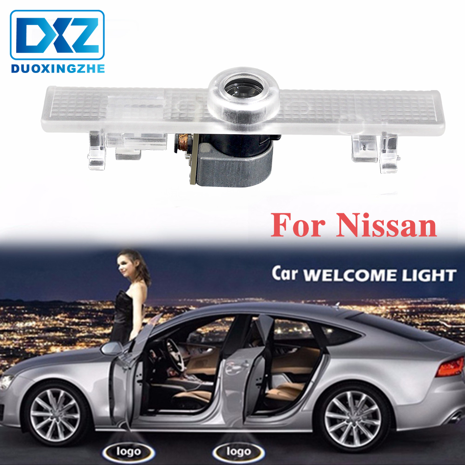 2Pcs LED Car Door Welcome Laser Projector Logo Courtesy Ghost Shadow LED Light For Nissan Altima Armada Maxima Quest Titan Teana
