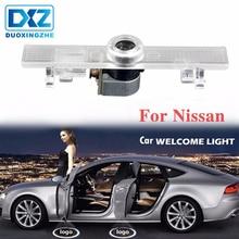 цена на 2Pcs LED Car Door Welcome Laser Projector Logo Courtesy Ghost Shadow LED Light for Nissan Altima Armada Maxima Quest Titan Teana
