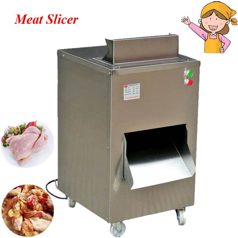 380V/220V Practical Food Processor Restaurant Meat Cutting Machine Chicken Slicer QC цена