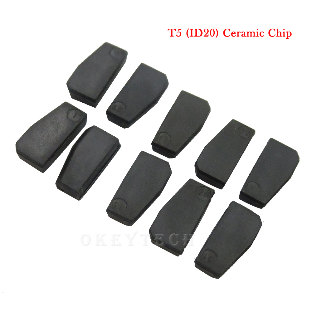 Okeytech 5pcs lot Key Chip T5 20 Transponder Chip Blank Carbon T5 Cloneable Chip For Car Key Cemamic T5 Chip Copy to ID 11 12 13 in Car Key from Automobiles Motorcycles