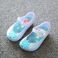 Princesa de las muchachas Zapatos de La Jalea de Mini sed del Copo de nieve de la Historieta Sandalias Transparentes Niños Anna Elsa Zapatos
