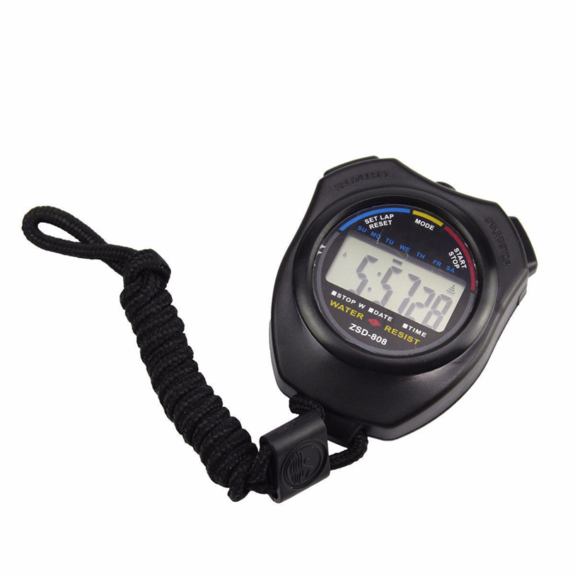 Superior Waterproof Digital LCD Stopwatch Chronograph Timer Counter Sports Alarm Oct 18* 90 260v ac dc digital timer 4 digit display alarm clock countdown time counter chronograph relay output 1 alarm