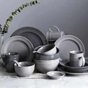 Simple Dishes Set European Tableware Ceramic Bowl Plate Chinese Tableware Set