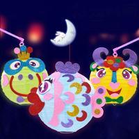 Kinderen 3D DIY Cartoon Lantaarn Nursery Handgemaakte Papier Lantaarn Levert Leuke Baby Kids Handgemaakte Speelgoed Kits Nieuwjaar Gift Decor