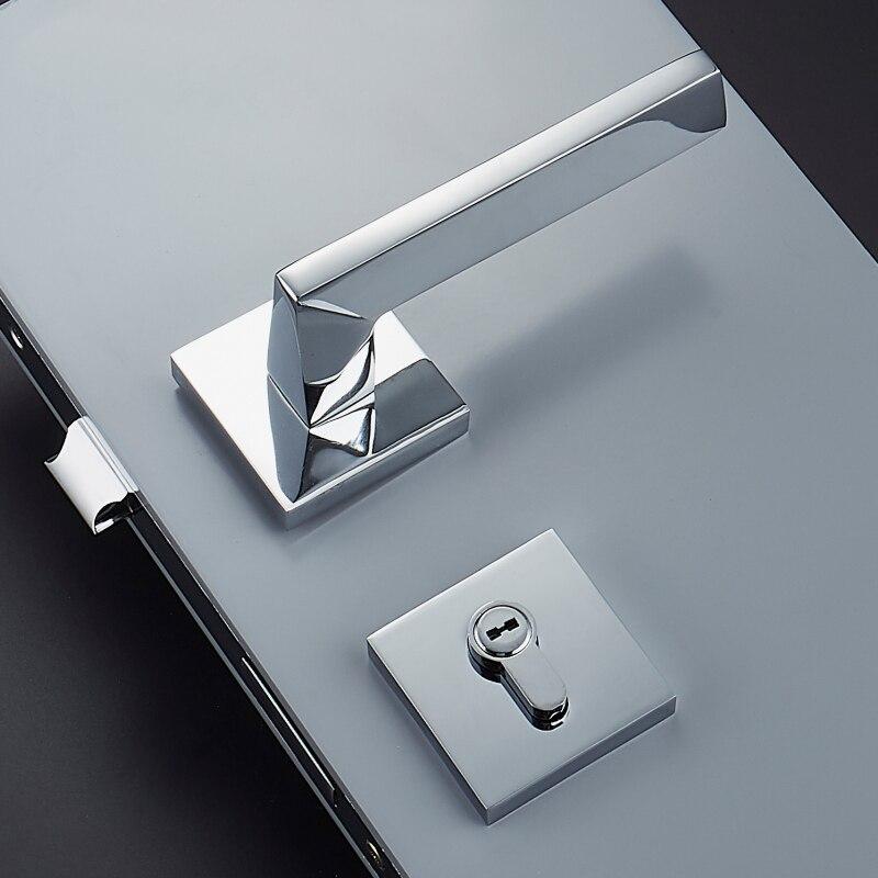 Elegant Designed 1Set European Brass Door Lock Set Interior Silent Door Lock Living Room/Bedroom/Bathroom Split Door Lock