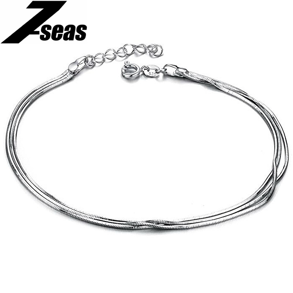 bracelet walmart com ankle adjustable gold bling anklet jewelry open sterling ip heart chain white silver