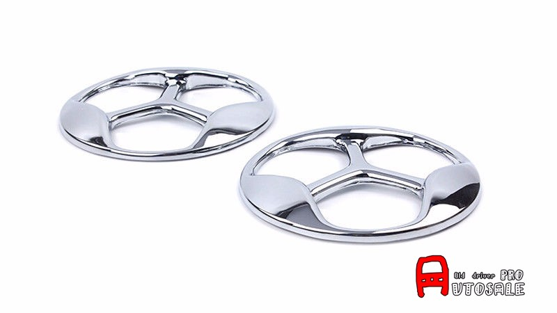 ABS Plastic Chrome Exterior Front Fog Lamp Light Covers Trim 2pcs For Kia Optima K5 2016 2017