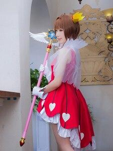 """Image 5 - Longitud de 44,8 """"Sakura Cardcaptor tarjeta claro Kinomoto Sakura Cosplay estrella sueño palo varita mágica Halloween accesorios de Cosplay para fiesta nuevo"""