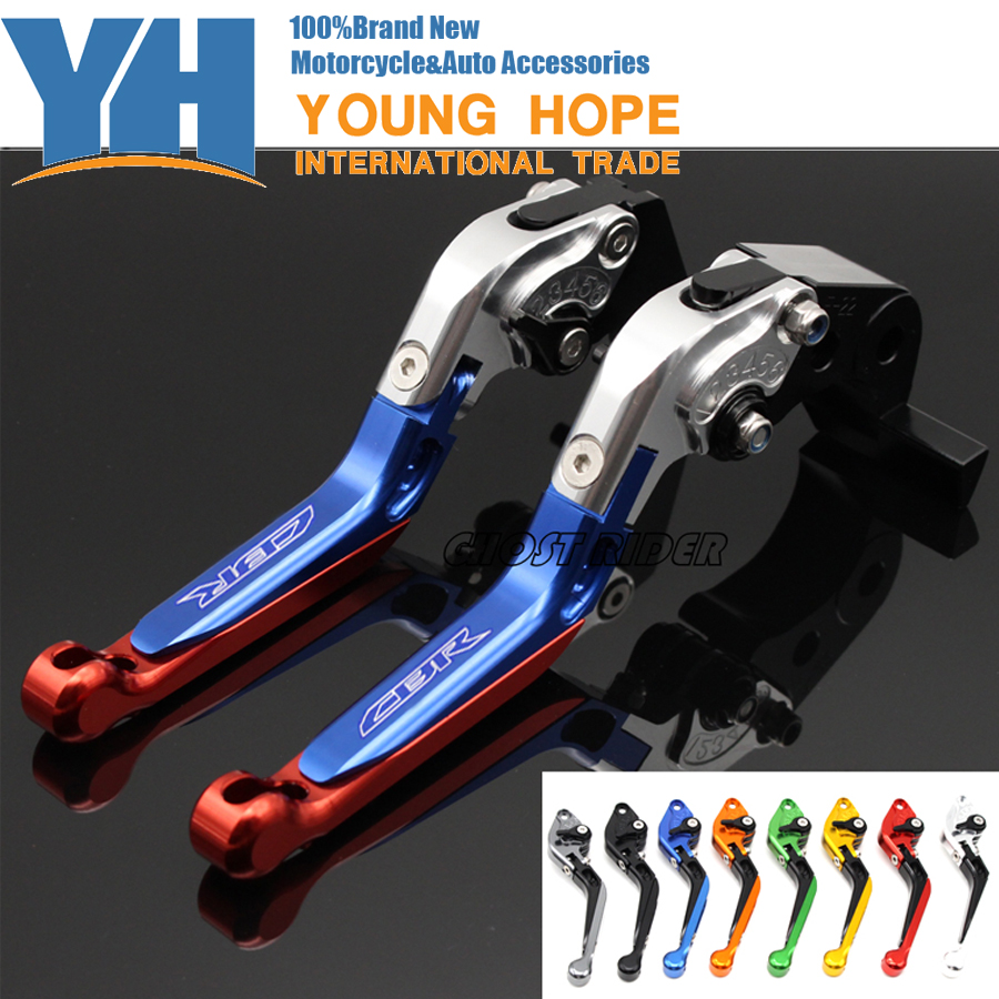 For HONDA CBR250R CBR300R CB300F CBR500R CB500F CB500X Motorcycle Adjustable Folding Extendable Brake Clutch Levers logo CBR billet new alu long folding adjustable brake clutch levers for honda cbr250r cbr 250 r 11 13 cbr300r 14 cbr500r cb500f x 13 14