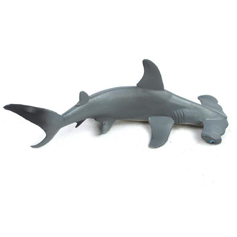 18cm Hammerhead Shark Lifelike Sea Animal Figure Solid Plastic Childs Toy Model