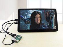 Waveshare 15.6 polegada ips lcd 1920x1080 tela de toque capacitivo com vidro temperado capa para raspberry pi jetson nano bb preto